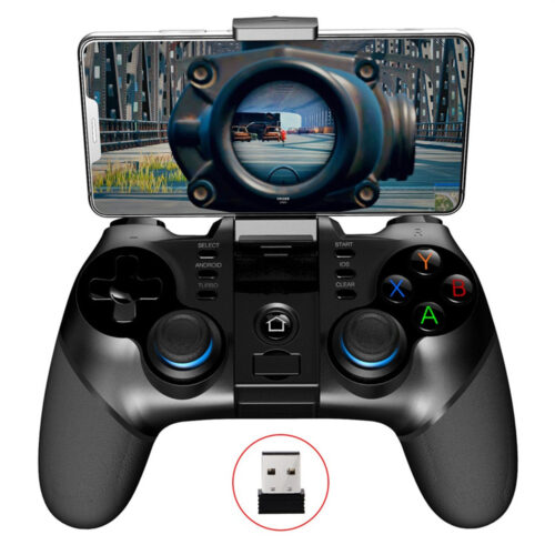 Ipega PG-9156 Wireless Bluetooth Joystick Game Controller with 2.4GHz USB Receiver for iOS Android Smartphone/PC/TV/Tablet - 3675